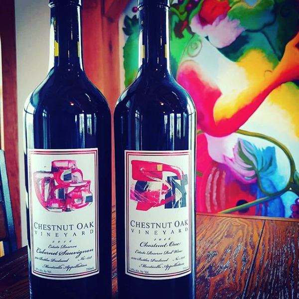 abstract art on wine labels by Carol Barber