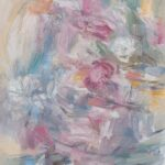 soft abstract oil painintg with lots of texture